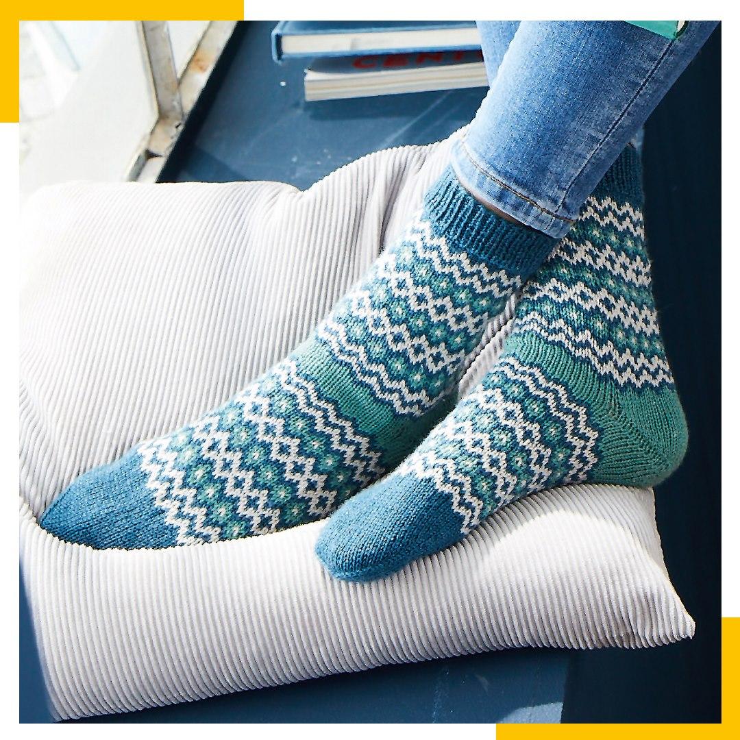 Kerstin Balke - Socken im Jacquardmuster