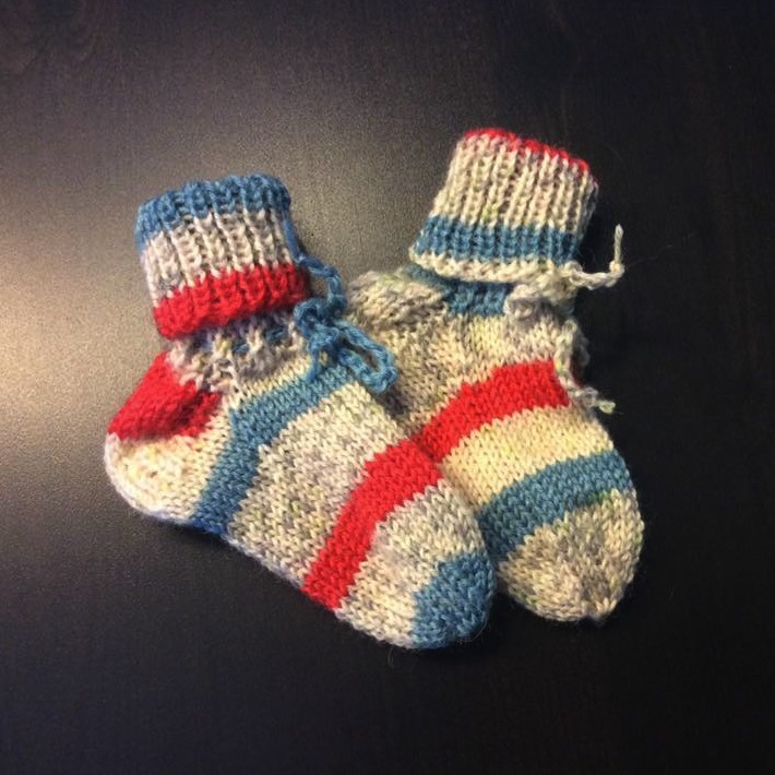 My First REGIA socks by Andrea Lorenz