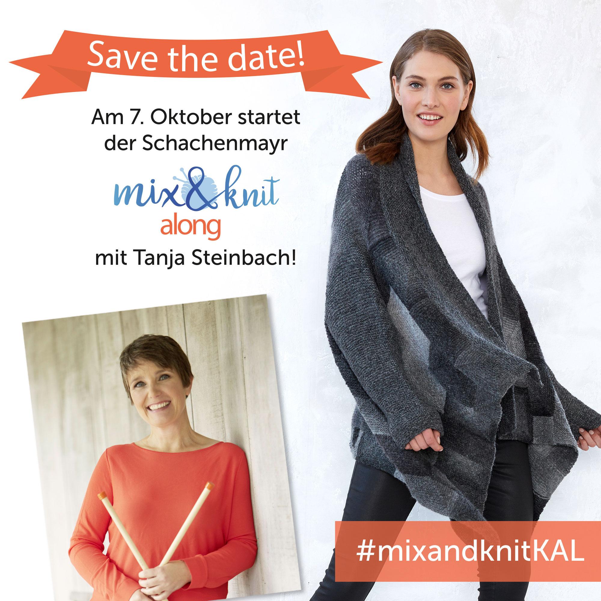 Am 7. Oktober startet der mix&knit-along mit Tanja Steinbach