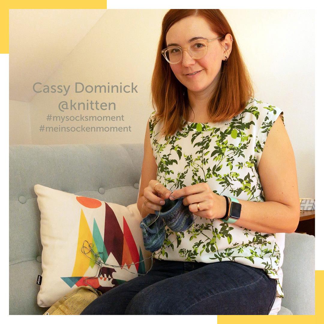 Mein Sockenmoment Beitragsreihe von REGIA mit Cassy Dominick