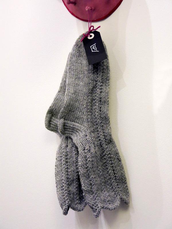 Olgasocken - eines der traditionellen finnischen Sockenmuster