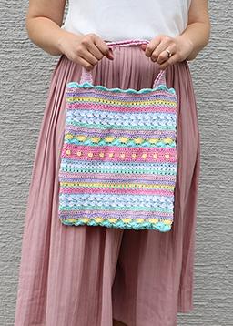 Fanny mit #cataniasummerstripes Tasche in 8 Pastellfarben