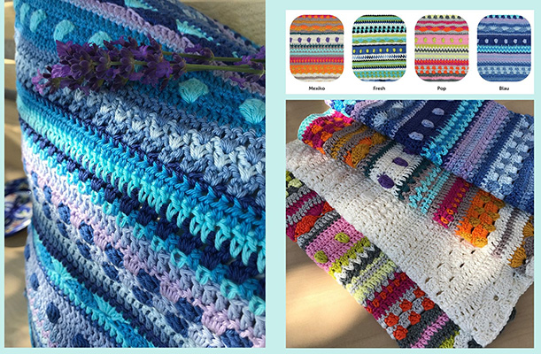 CataniaCal Crochet Along 2020  #cataniasummerstripes Farbkombinationen