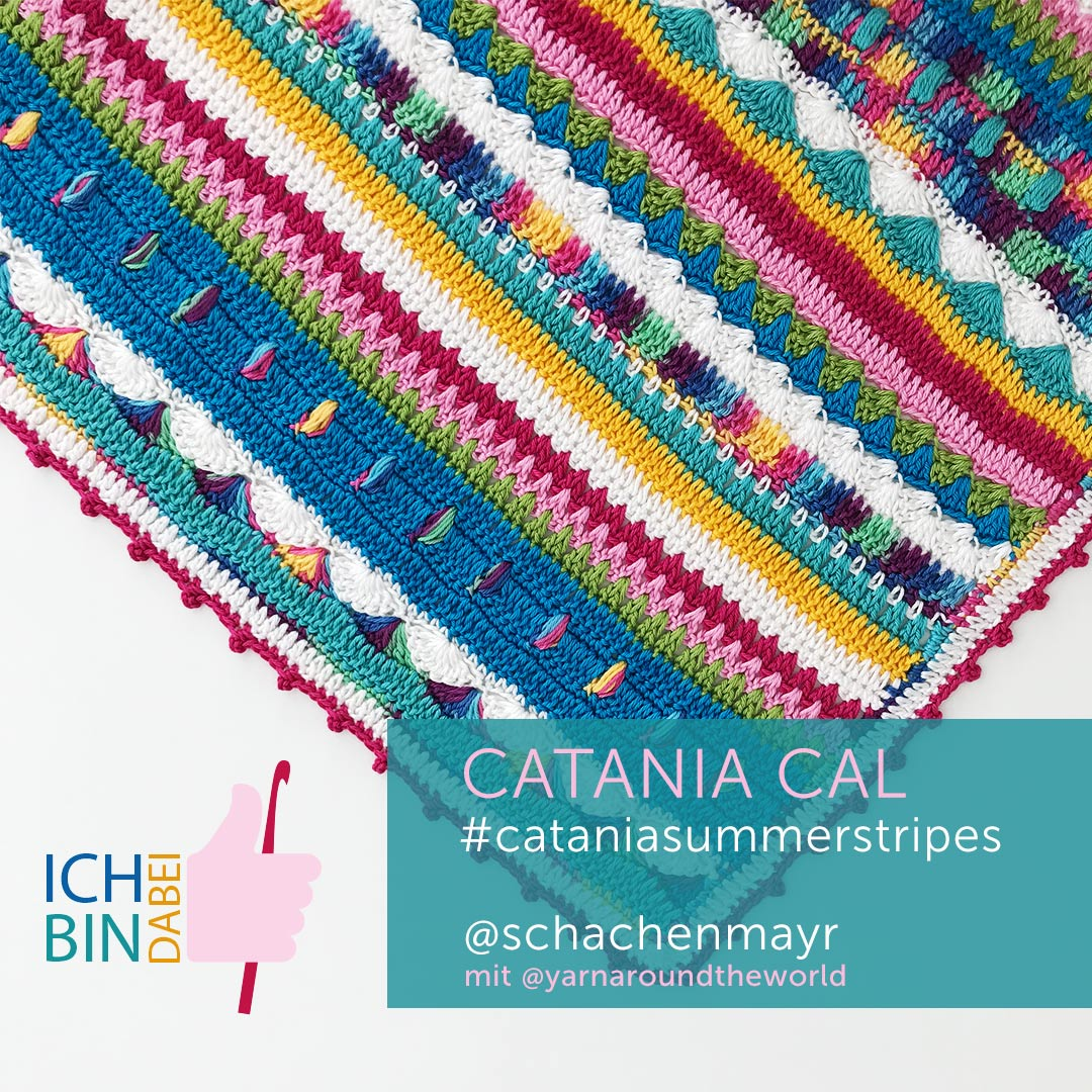 Mitmachgrafik CataniaCAL #summerstripes Ich bin dabei