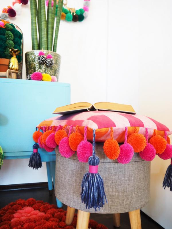 PomPoms and tassels are a great way of decorating!