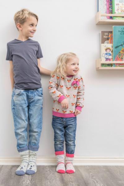 Tierisch warme Füße für die Kleinen - Kindersocken aus REGIA