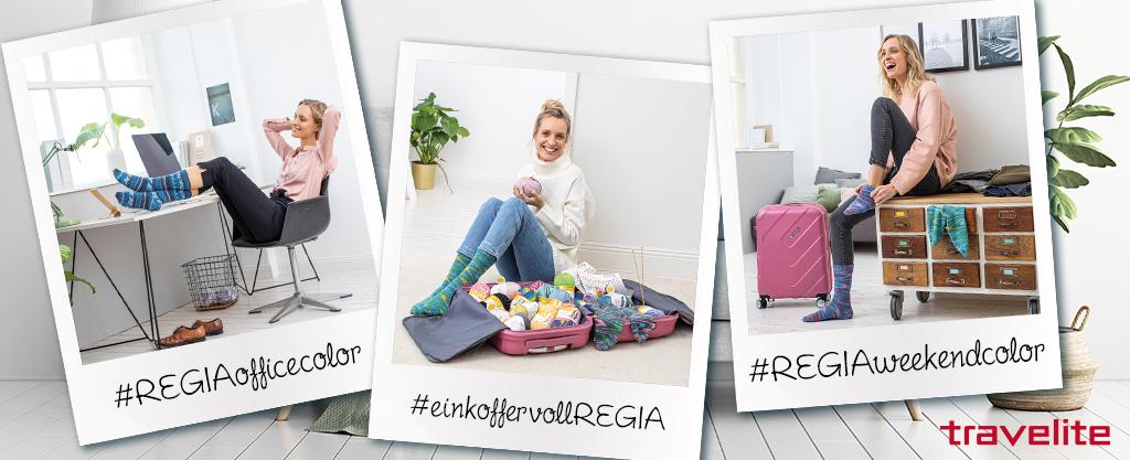 Banner zum Instagram Fotowettbewerb Ein Koffer voll REGIA 2020 mit Travelite