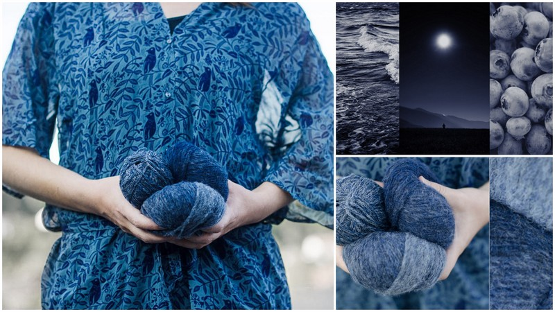 Bloggers share their inspirations and colors for the mix&knit KAL Pieceful Cardigan