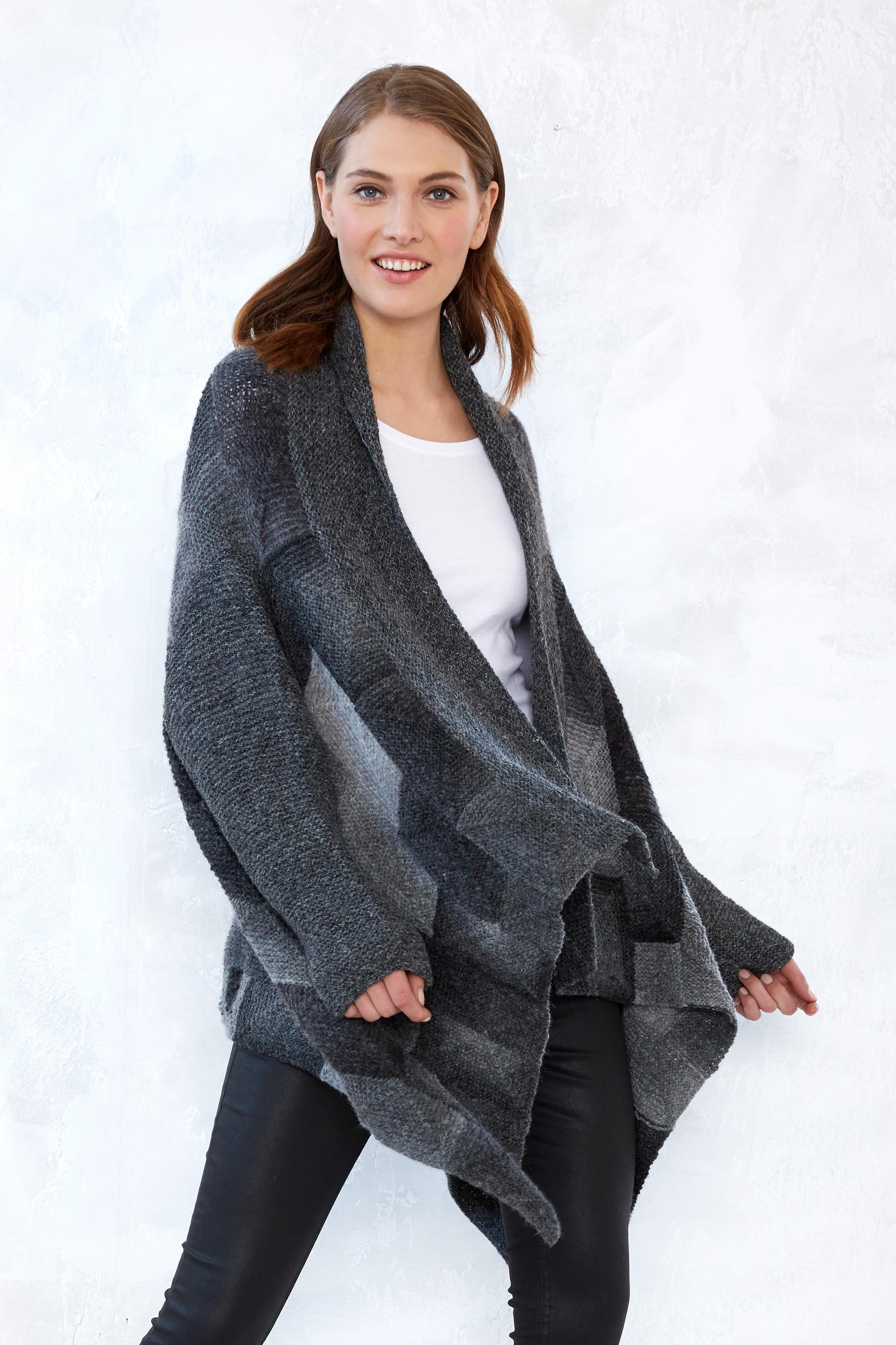 S10077 Pieceful Cardigan aus Schachenmayr Garnen der mix und knit Kollektion