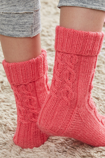 REGIA knitted socks heel with flap