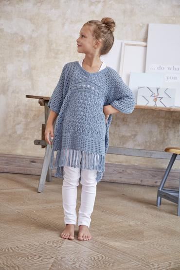 Girl S Poncho Shirt S10172 Schachenmayr
