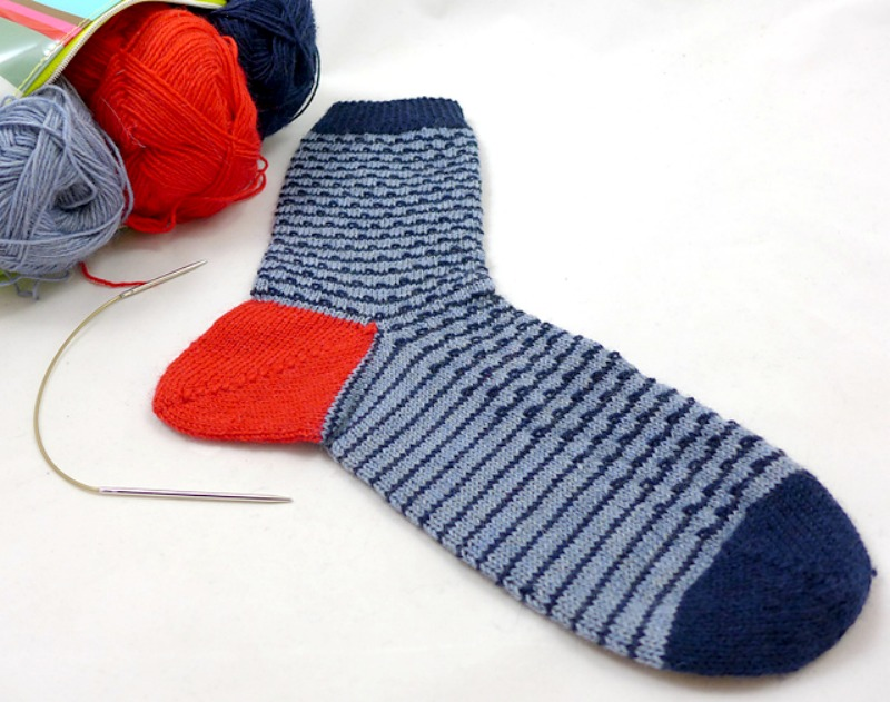 """Waldemar"" - a Stichfest sock design great for the SockWonder"